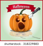 halloween   killing and carving ... | Shutterstock .eps vector #318229883