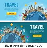 travel vector logo design... | Shutterstock .eps vector #318234800
