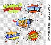Set Of Pop Art Comic Sale...