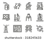 chemistry objects  symbols for... | Shutterstock .eps vector #318245633