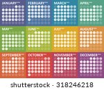 simple colorful calendar for... | Shutterstock .eps vector #318246218