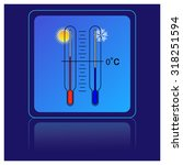 thermometer icons with hot and... | Shutterstock .eps vector #318251594