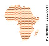 abstract digital africa map of... | Shutterstock .eps vector #318257954