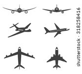 vector isolated plane icons set.... | Shutterstock .eps vector #318258416