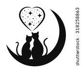 Stock vector cats in love 318258863