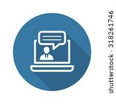 online consulting icon.... | Shutterstock .eps vector #318261746