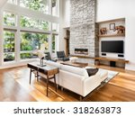 beautiful living room interior... | Shutterstock . vector #318263873