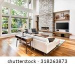 beautiful living room interior... | Shutterstock . vector #318263873