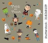 happy halloween  | Shutterstock .eps vector #318268109