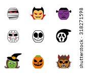 icon set of halloween... | Shutterstock .eps vector #318271598