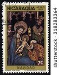 nicaragua   circa 1983  a stamp ...   Shutterstock . vector #318283364