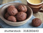 italian chocolate cookies with... | Shutterstock . vector #318283643