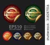 vector   metallic 100  premium... | Shutterstock .eps vector #318287516
