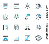 seo and development icons | Shutterstock .eps vector #318291194