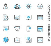 seo and development icons | Shutterstock .eps vector #318291200