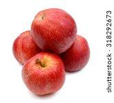 fresh red apples on white... | Shutterstock . vector #318292673