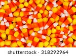 filled frame of candy corn... | Shutterstock . vector #318292964