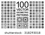 seamless texture with geometric ... | Shutterstock .eps vector #318293018