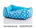 Blue Pet Bed On White...