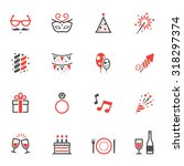 celebration icons and party... | Shutterstock .eps vector #318297374