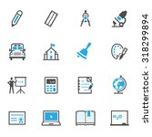 education icons | Shutterstock .eps vector #318299894