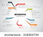 vector company infographic... | Shutterstock .eps vector #318303734