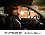 senior business woman calling... | Shutterstock . vector #318304610