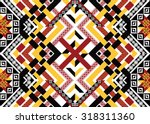 geometric ethnic pattern... | Shutterstock .eps vector #318311360
