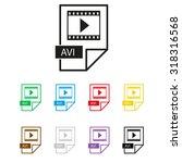 avi icon   vector icon
