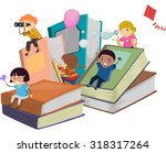 stickman illustration of kids... | Shutterstock .eps vector #318317264