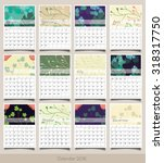 calendar for 2016. week starts... | Shutterstock .eps vector #318317750