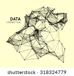 abstract network connection.... | Shutterstock .eps vector #318324779