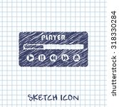 player ui vector sketch icon