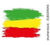 grunge rasta flag as a... | Shutterstock .eps vector #318334043