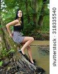 glamour portrait of beautiful... | Shutterstock . vector #318335540