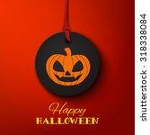 happy halloween card  pumpkin... | Shutterstock .eps vector #318338084