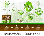 ecology concept. save world... | Shutterstock .eps vector #318341270