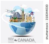 canada landmark global travel... | Shutterstock .eps vector #318344030