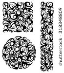 a set of patterns of different... | Shutterstock .eps vector #318348809