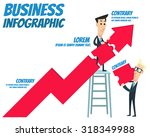 business infographic   growth | Shutterstock .eps vector #318349988