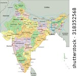 india   highly detailed... | Shutterstock .eps vector #318352568