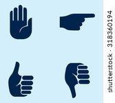 hand icons | Shutterstock .eps vector #318360194