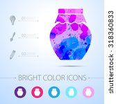 vector watercolor homemade jam... | Shutterstock .eps vector #318360833