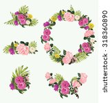 vector illustration of floral... | Shutterstock .eps vector #318360890