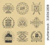 grunge hipster retro design... | Shutterstock .eps vector #318361808