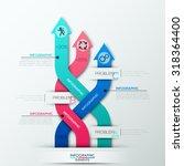 modern infographics options... | Shutterstock .eps vector #318364400
