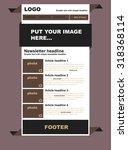 responsive newsletter template... | Shutterstock .eps vector #318368114