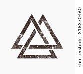 three interlocking triangles ...   Shutterstock .eps vector #318370460