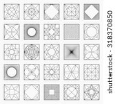 set of geometric elements  ... | Shutterstock .eps vector #318370850