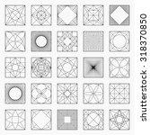 set of geometric elements  ... | Shutterstock .eps vector #318370850